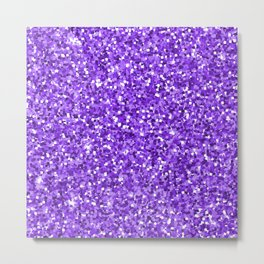 Hot purple white modern abstract pattern Metal Print