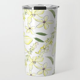 Floral Pattern Agrimony Travel Mug