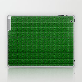 Binary Green Laptop & iPad Skin