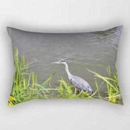 Beautiful Blue Heron Rectangular Pillow