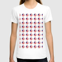 Flag of Usa in a polka dot. T-shirt