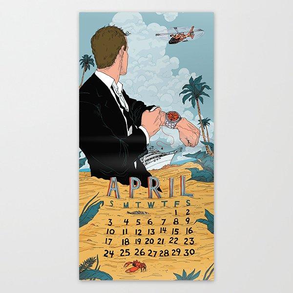Society6 Artist Calendar 2016 Editions