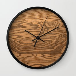 Wood 5, heavily grained wood Horizontal grain Wall Clock