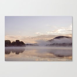 Into the Mists of Dawn Canvas Print