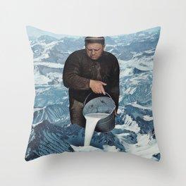 Milky Mountain Throw Pillow