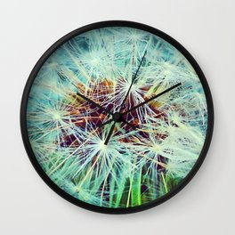 Dandelion in Turquoise Wall Clock