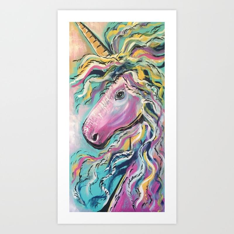Fabulous Rainbow Unicorn Art Print By Cortayloo Society6