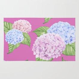 Pink Hydrangeas Rug