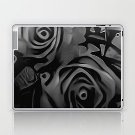 Black & White Roses Laptop & iPad Skin