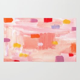 Put Sorrows In A Jar - abstract modern art minimal painting nursery Rug