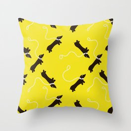 Dogs infinity - Fabric pattern Throw Pillow