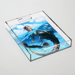 Ray Mermaid Acrylic Tray