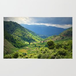 MOUNTAIN LANDSCAPE IN LAMDONG PROVINCE Rug