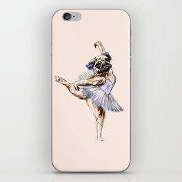 Pug Ballerina in Dog Ballet | Swan Lake  iPhone Skin