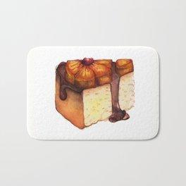Pineapple Upside-Down Cake Slice Bath Mat