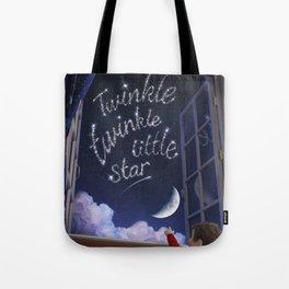 Twinkle Twinkle Little Star - Nursery Rhyme Inspired Art Tote Bag