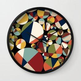 Mid Century Modern Circle Abstract Wall Clock