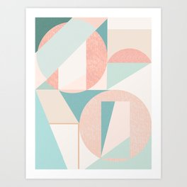 Abstract art composition Art Print