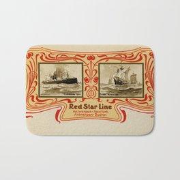Red Star Line Antwerp New York ocean liners Bath Mat