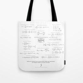 High-Math-Inspiration 01 - Black & Gray Tote Bag