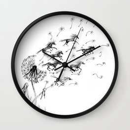 If Wishes Were Horses Wall Clock