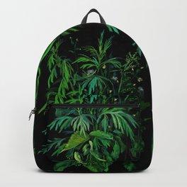 Green & Black, summer greenery Backpack