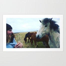 Horse Afield Live Art Print