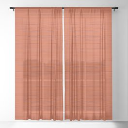 Meteor Stripes - Rust Orange Sheer Curtain