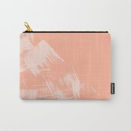 Sweet Life Paint Swipes Peach Coral Pink Carry-All Pouch