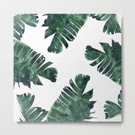 Banana Leaf Watercolor #society6 #buy #decor Metal Print
