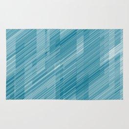 The Blue Hash - Geometric Pattern Rug