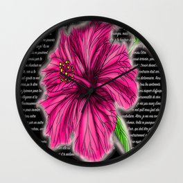 Lettre a une flamme 2.0 Wall Clock