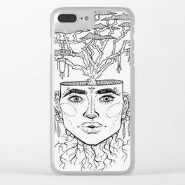 Tree Brain Clear iPhone Case