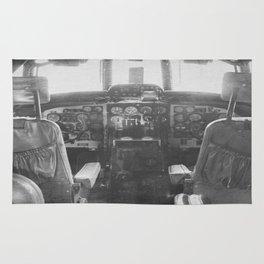 Cockpit Vintage Plane Rug