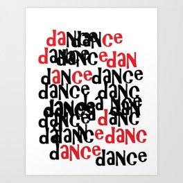 dance in red 'n black Art Print