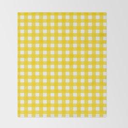 Vichy Karo Gelb Home Dekor Throw Blanket