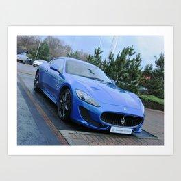 The beautiful Maserati GranTurismo Art Print