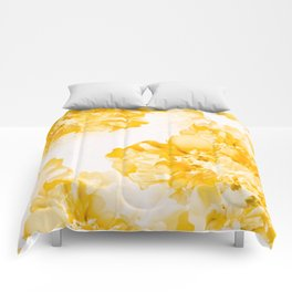 Beautiful Peony Flowers White Background #decor #society6 #buyart Comforters