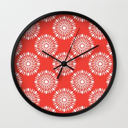 Kitchen cutlery red Wall Clock
