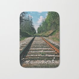 On the railroad to nature Bath Mat