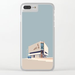 Soviet Modernism: Chess house in Yerevan Clear iPhone Case