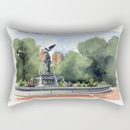 Bethesda Fountain - Central Park Rectangular Pillow