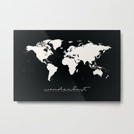 Wanderlust Map Metal Print