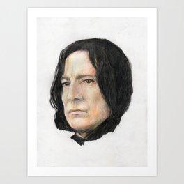 Severus Snape, Alan Rickman portraitoriginal art print Art Print
