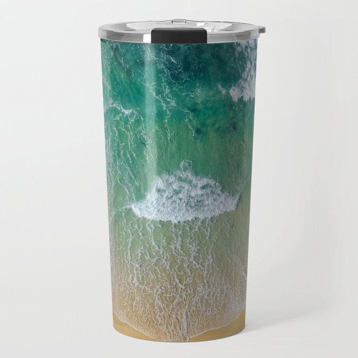 Ocean from the sky Travel Mug