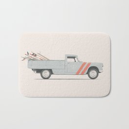 Surfboard Pick Up Van Bath Mat