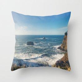 The Sunny Oregon Coast Throw Pillow