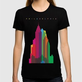 Shapes of Philadelphia accurate to scale T-shirt