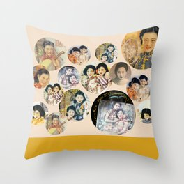 Beijing 6576 Asian vintage atmosphere with women Throw Pillow