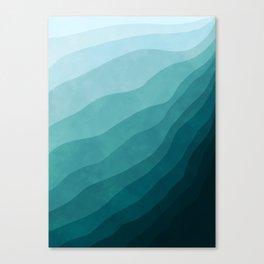 Stratum 2 Aqua Canvas Print